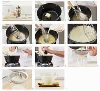 Making bechamel sauce