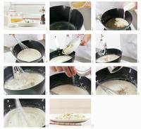 Gorgonzola sauce being prepared
