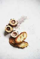 Roasted Beef Marrow Bones with Slices of Toasted Bread; From