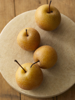 Asian Pears on a Board; From Above