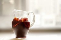 Sangria in glass jug