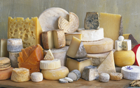 Cheese from various European countries