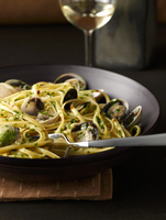Bowl of Linguini and Clams