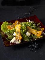 Bone salad made of pumpkin for Halloween