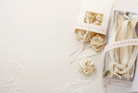 Home-made tagliatelle and pappardelle pasta as gifts