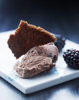 Chocolate and blackberry ice cream