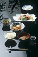 Japanese meal, miso, tempura