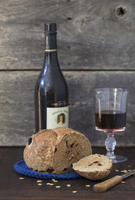 Cherry Rye Bread with Red Wine