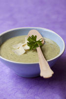 Cream of courgette soup with parmesan 22199078397| 写真素材・ストックフォト・画像・イラスト素材|アマナイメージズ