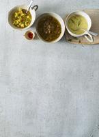 Three different salad dressings 22199078653  写真素材・ストックフォト・画像・イラスト素材 アマナイメージズ
