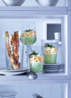 Herb mayonnaise with chopped eggs and nut and cheese fingers 22199078727| 写真素材・ストックフォト・画像・イラスト素材|アマナイメージズ