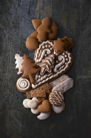 Assorted gingerbread biscuits