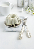 Chocolate Bundt cake with glace icing