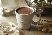 A cup of cocoa with gingerbread men (Christmassy)