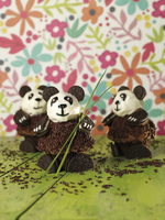 Panda cupcakes (chocolate cakes with Oreo biscuits)