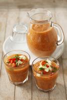Gazpacho (Cold vegetable soup, Spain) 22199080626| 写真素材・ストックフォト・画像・イラスト素材|アマナイメージズ