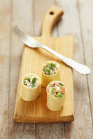 Cannelloni, filled with vegetable mayonnaise and ham 22199080638| 写真素材・ストックフォト・画像・イラスト素材|アマナイメージズ