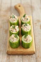 Cucumber filled with tuna paste and walnuts 22199080639| 写真素材・ストックフォト・画像・イラスト素材|アマナイメージズ