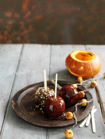Toffee apples for Halloween