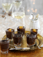 Chocolate mousse with grated chocolate (for Christmas)