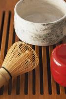 Matcha whisk and tea bowl