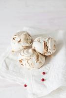 Zebras - Marbled Meringue Cookies on a white napkin
