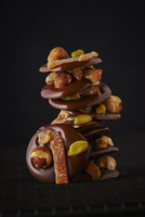 Mendiants with chocolate and nuts (France)