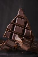 Several chunks of plain chocolate