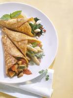 Assorted filled Pancakes 22199081752  写真素材・ストックフォト・画像・イラスト素材 アマナイメージズ