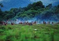 Refugee camp for Rwandan refugees, Parc des Virungas, Democr