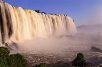 Iguazu Falls from Brazilian side, border Brazil and Argentin