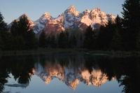 The Teton range, Grand Teton National Park, Wyoming, USA