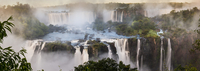 Early morning at Iguasu Falls, photographed from Brazilian side, State of Parana, Brazil