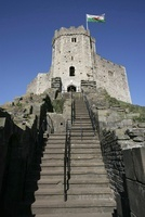 City of Cardiff, Wales. The historic 12 sided Norman keep st