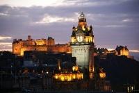 City of Edinburgh, Scotland. Sunset view of the W Hamilton B