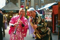 Two musicians at the Japanese Festival, Spitalfields Market,