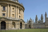 Radcliffe Camera, by James Gibbs, looking to All Souls with