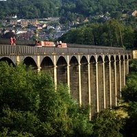 Pontcysyllte Aqueduct is a navigable aqueduct that carries t