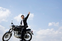 Businessman On Motorcycle