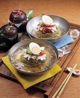Naengmyeon(Cold Noodle) With Spicy Sauce,Korean Food