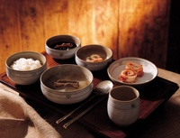 Rice Dish with Kimchi,Korean Food
