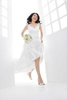 Bride Wearing Wedding Gown,Korean