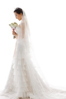 Bride Wearing Wedding Gown,Korean
