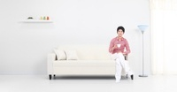 Young Man on Sofa,Korean