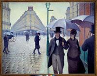 Une rue de Paris par temps de pluie en, 1877/パリの通り、雨