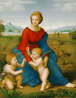 Madonna on the meadow, 1505-1506/�q��̐���