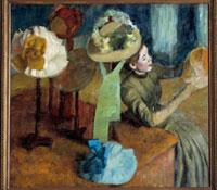 Chez la modiste. 1882/婦人帽子店にて