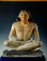 Seated scribe from Saqqara. 5th Dynasty 22244000935| 写真素材・ストックフォト・画像・イラスト素材|アマナイメージズ