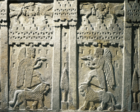 Hittite civilization, 1st millennium b.C. Relief depicting o