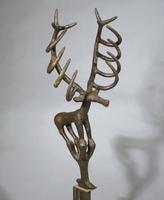 Turkey, Hoyiik, Standard representing a deer figure, bronze